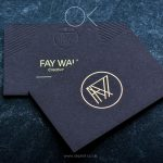 Black premium business cards with gold foiled logo
