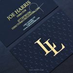 Luxury Business Cards With Gold Foil and Raised Ink