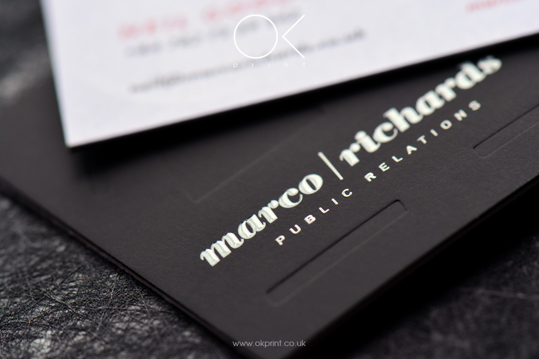 Premium debossed business cards, UK