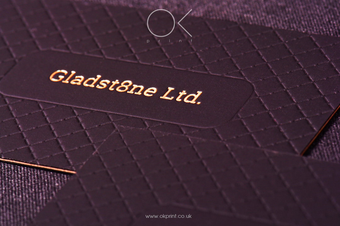 LUXURY FOIL STAMPING BUSINESS CARDS WITH DEBOSSING