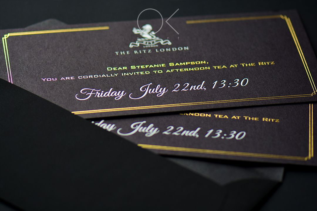 GOLD FOIL LUXURY INVITATION