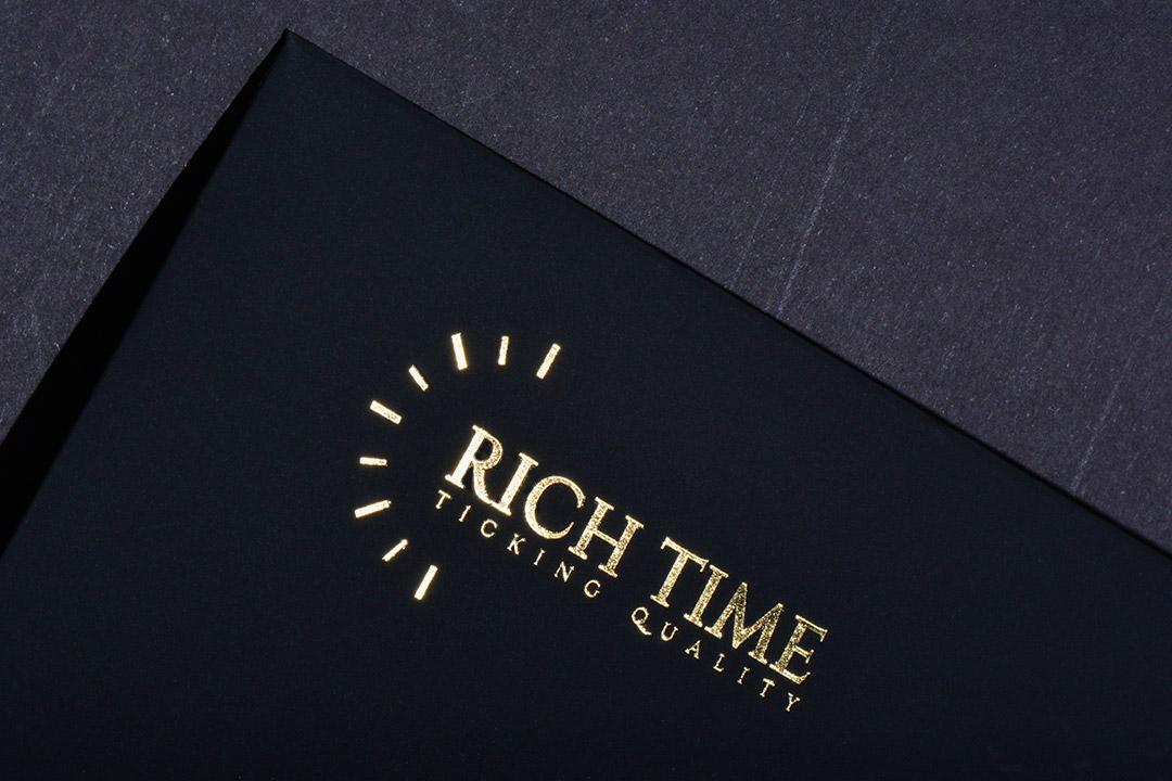 Premium black envelopes with gold foil