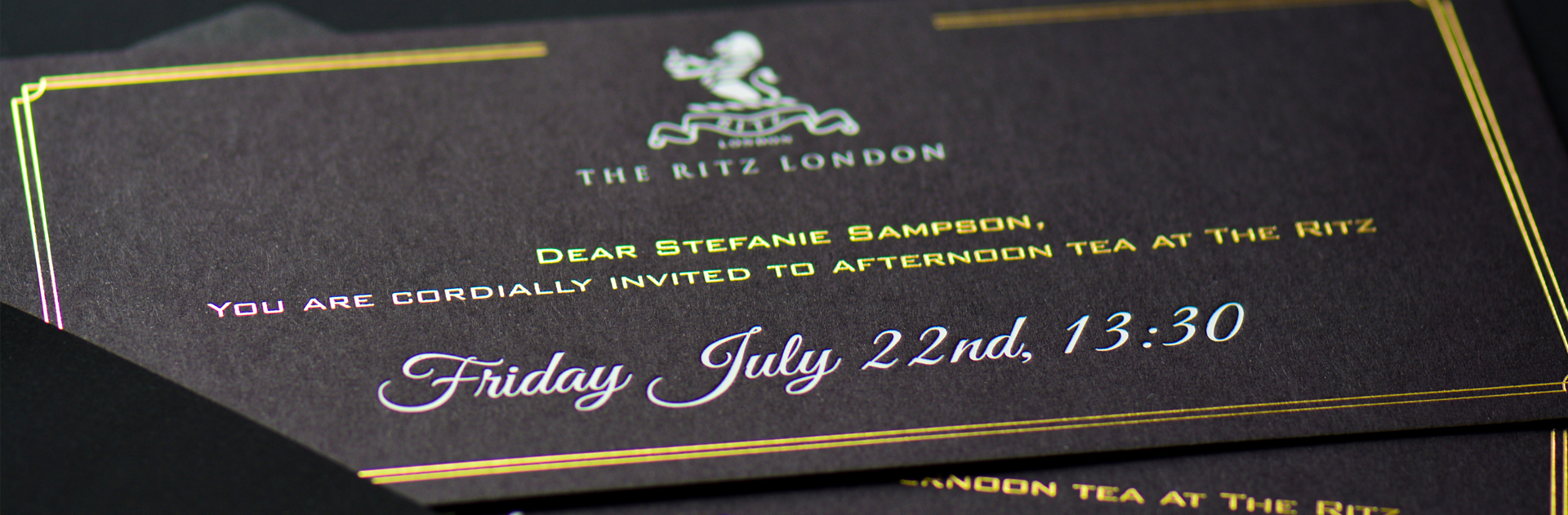 Bespoke corporate invitations