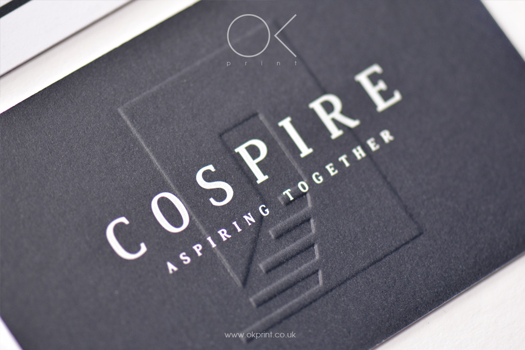 EMBOSSED BUSINESS CARDS FOR MANAGEMENT COMPANY