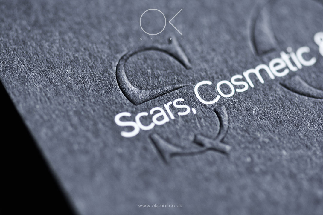 EMBOSSED BUSINESS CARDS FOR COSMETICSPECIALIST