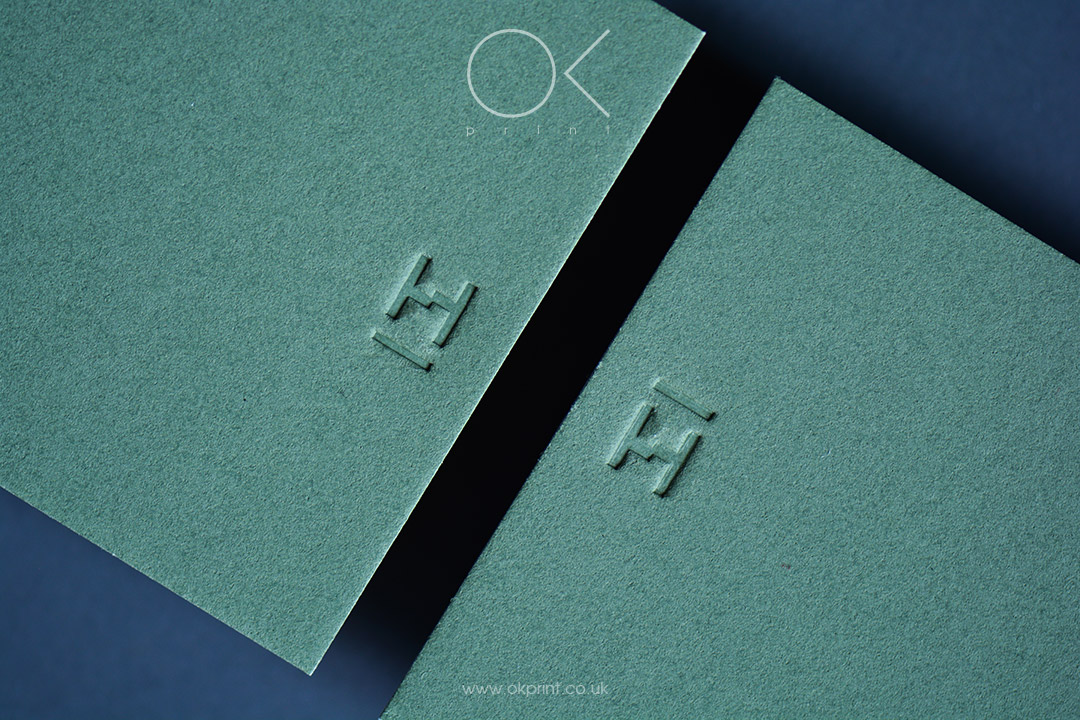 DEBOSSED BUSINESS CARDS FOR ARCHITECTURE AND DESIGN STUDIO