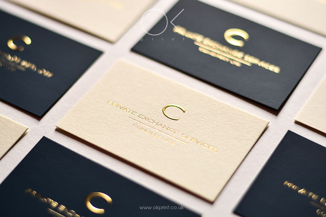 GOLDEN FOIL EMBOSSED BUSINESS CARDS