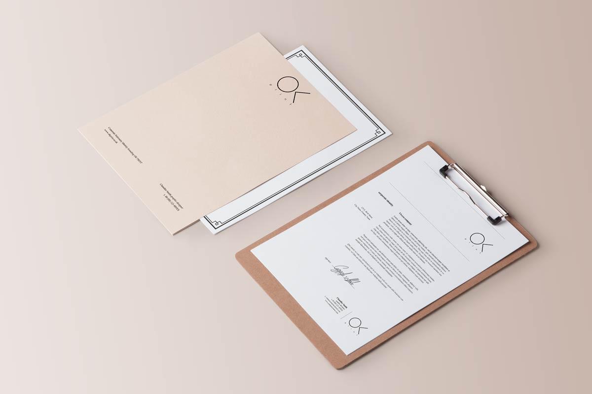 Luxury premium letterheads