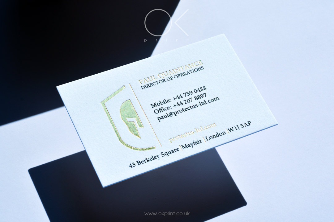 LUXURY GOLDEN FOIL STAMPING BUSINESS CARDS