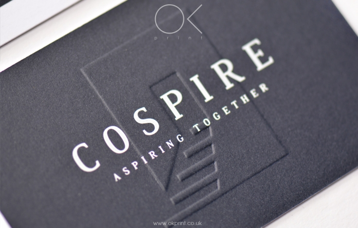 Embossed business cards for management company ok print uk embossed business cards reheart Image collections